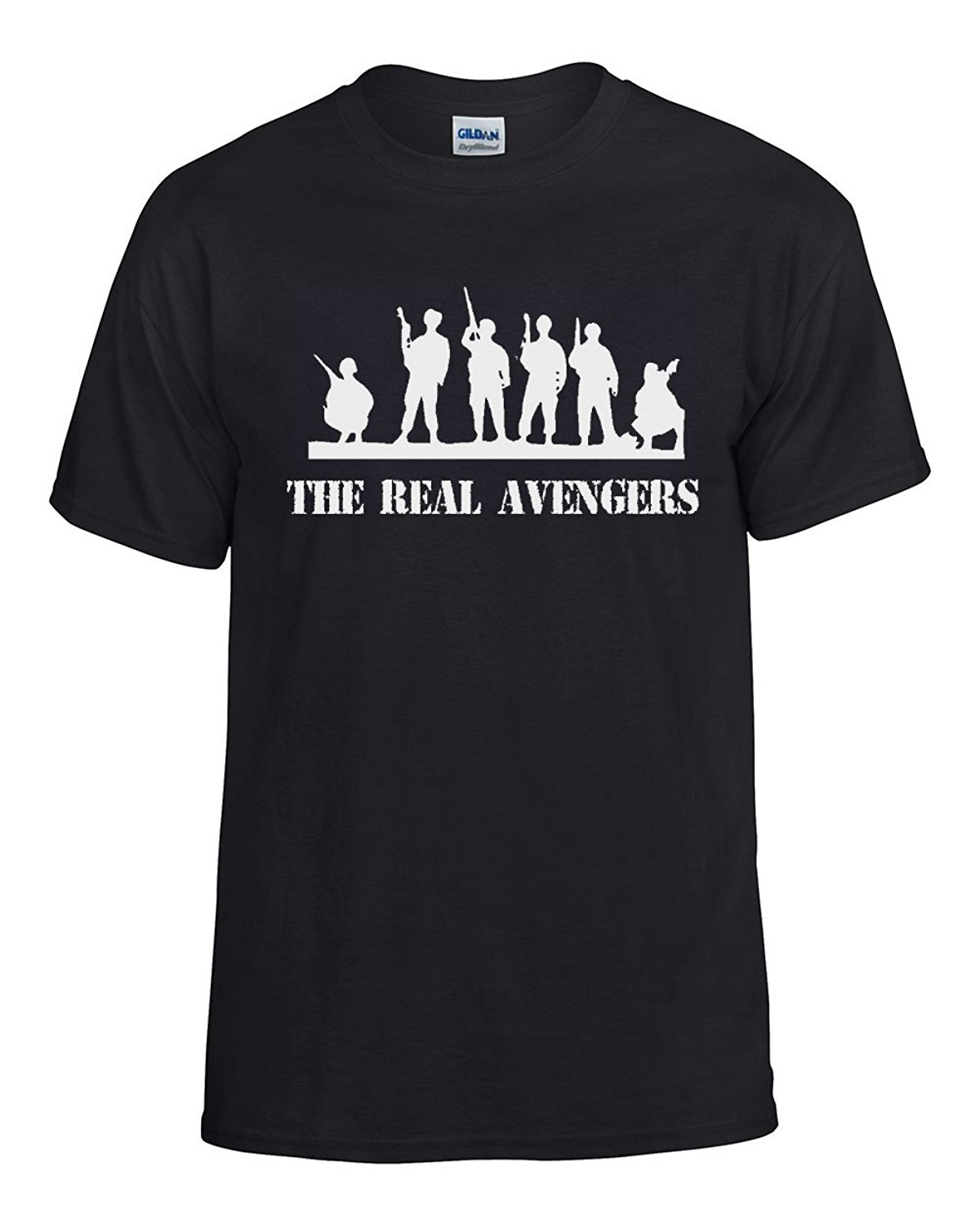 the real avengers military pride t shirt mens black